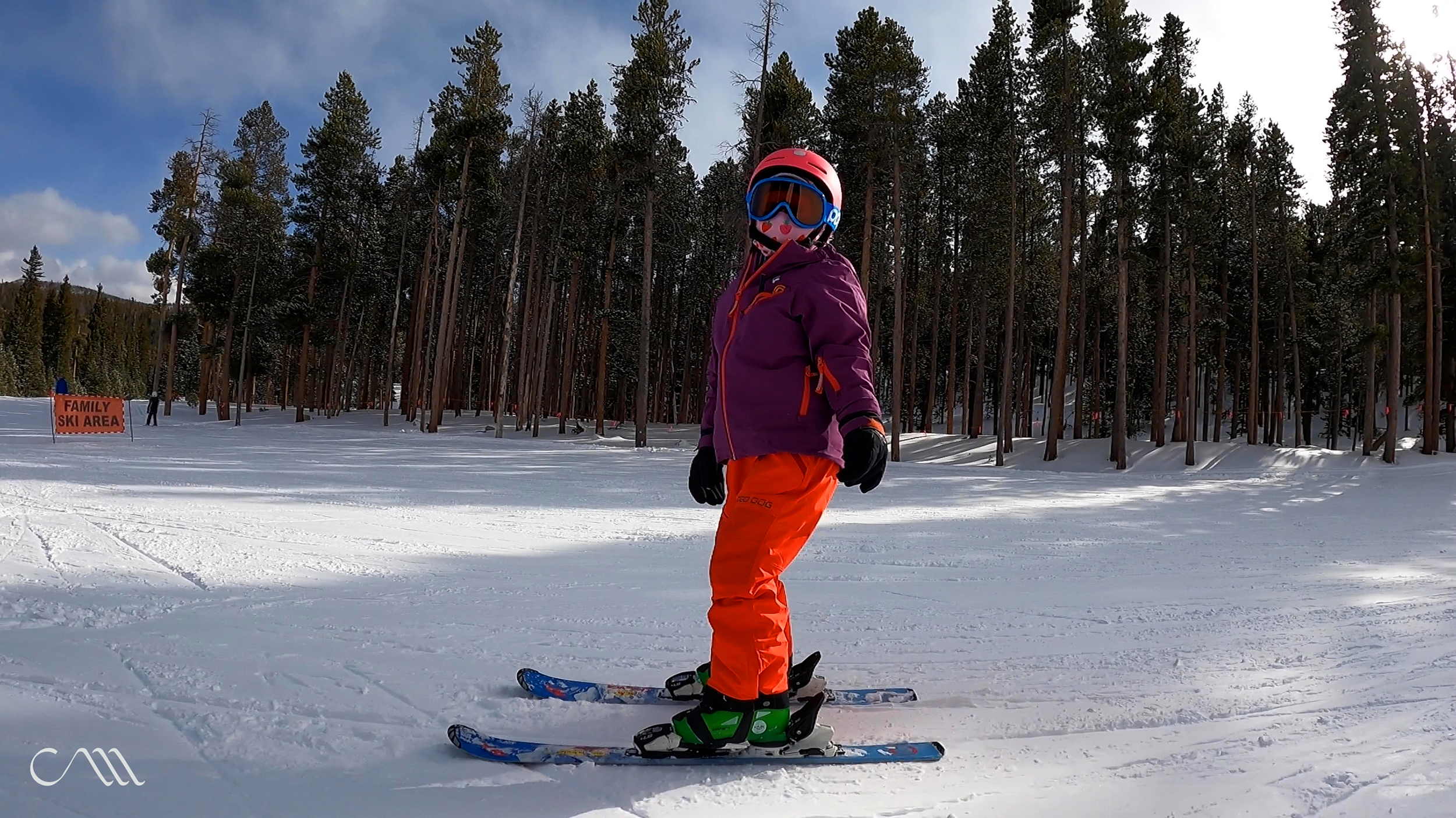 Roise on the slopes in her Shred Dog gear.